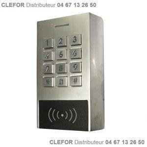 clavier a code metal porte portier avec lecteur de badge IP66 2 relais eff.JPG applique assa abloy