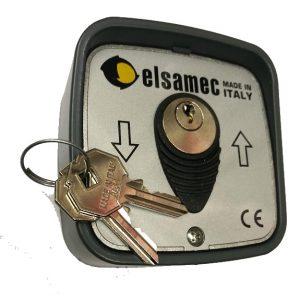 ELSAMEC 1134 contacteur selecteur boitier a cles clefs montee descente pour rideau metallique letal bft nice elsamec ce af ceaf