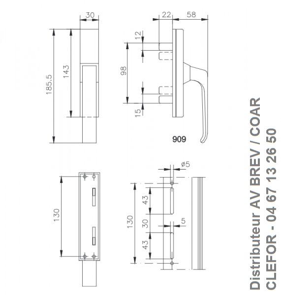 POIGNEE SAVIO BREV GENOVA 909 2 FOURCHES