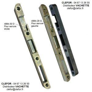 gache serrure vachette 4984-29 G et 4984-30 D droite et gauche a galet