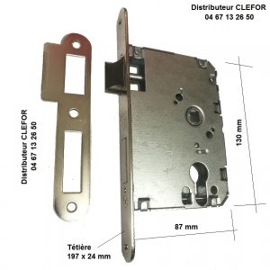 TE6045 serrure encastree tesa made in spain assa abloy axe 60 entraxe 45 40106PRHN