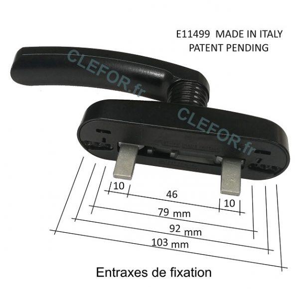 poignee cremone 2 doigts technal eretti erreti E11499 made in italy patent pending