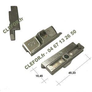 Gâche pour galets ou rouleaux GU 9-33921 9.33921