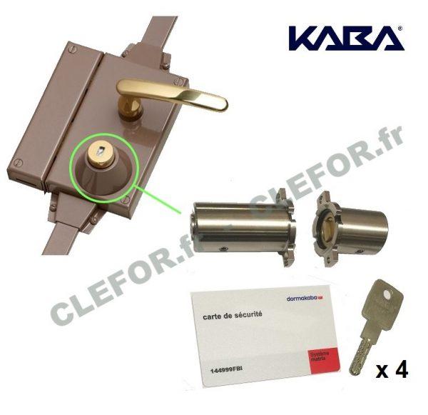 jeu de cylindre kaba pour serrure fichet multipoint montpellier