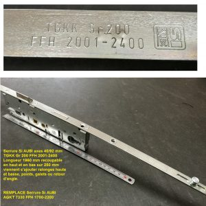 cremone serrure si aubi tgkk gr200 ffh 2001-2400 remplace 1700-2300 AGKT7330