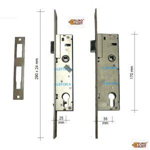 serrure metalux vektor euro elzett entraxe 85 axe 25 35 mm