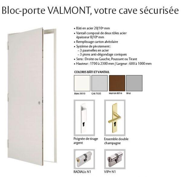 bloc porte blindée de cave valmont vachette fichet