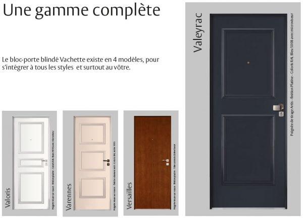 porte blindee valmont valoris varennes versailles valeyrac fichet A2P BP1 vachette fichet couleur acalou bois