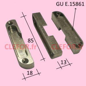 GU E15861 gache pour serrure a galet ferco gu bks e-15861 E15861