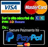 Paiement sécurisé visa mastercard 3d secure CM CIC Paypal Clefor montpellier serrures et clés
