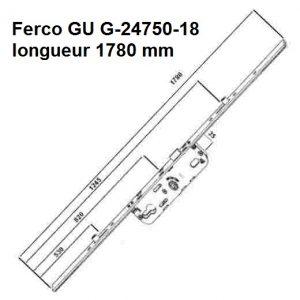 serrure cremone ferco gu 6-35 635 2 galets ajustable haut et bas gu G-24750-18
