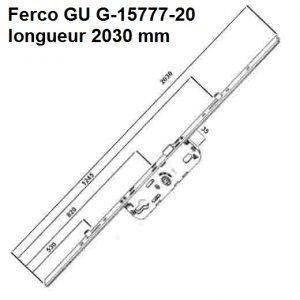 serrure cremone ferco gu G-15777-20 G15777 lg 2030 mm