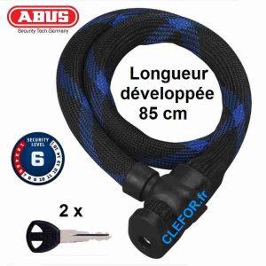 ABUS 7220 ivera cable gaine longueur 85 cm niveau de securite niveau 6