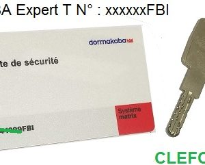 cle clef kaba expert T T dans un triangle t-secur thoumyre clefor