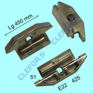 Gâche GU E22 425 E-22425-51-0-1 pour PVC