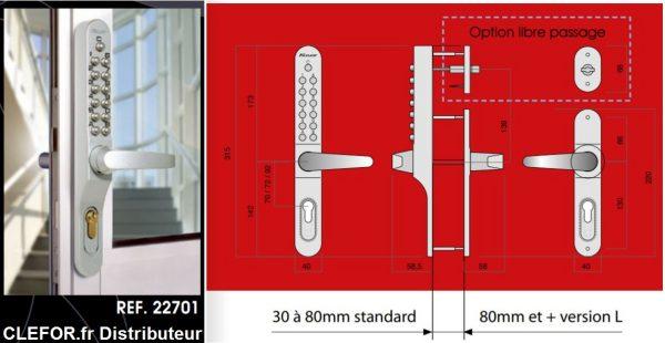 controle acces mecanique lokod 22701