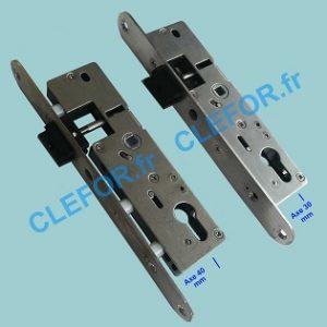 serrure select devisme portail portillon inox plastique tetière large inox 240 mm pêne plastique