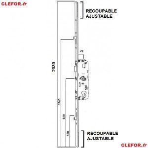 cremone ferco gu g-22675 g-24452 G22675 G24675 ajustable haut et bas longueur 2030