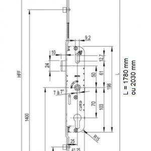 cremone porte fenetre gu ferco 5-25 axe 25 G-24534-18-L-1 g-24534-20-l-1