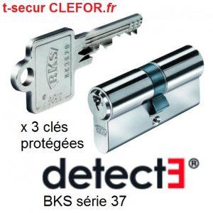 cylindre bks detect3 serie 37 serie 31 serie 50 janus varie ou sur organigramme passe cles t-secur