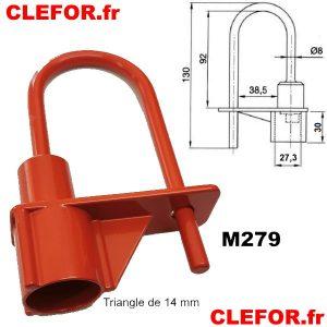 cadenas pompier triangle de 14 mm cadenas portail pompier ifam 44900 m279 clefor serrures et cles montpellier